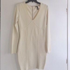 Cream Color Bodycon Dress